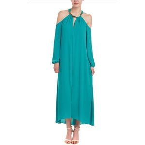 NWT BCBG Ivonka Dress in Dark Sea Green